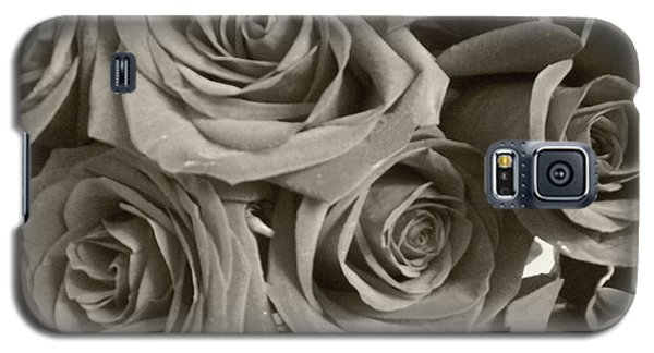 Galaxy S5 Case featuring the photograph Roses On Your Wall Sepia by Joseph Baril