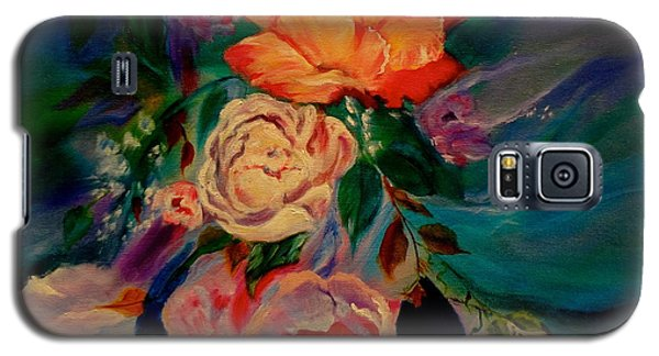 Galaxy S5 Case featuring the painting Roses Roses Roses by Jenny Lee