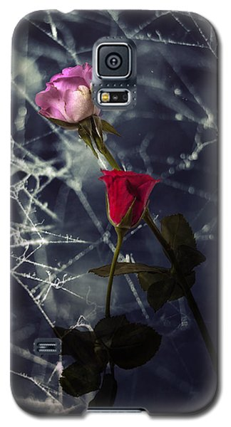 Roses With Coweb Galaxy S5 Case by Joana Kruse