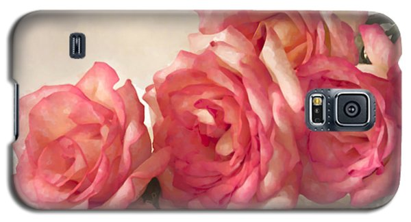 Galaxy S5 Case featuring the photograph Rosy Elegance Digital Watercolor by Sandra Foster