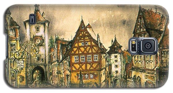 Rothenburg Bavaria Germany - Romantic Watercolor Galaxy S5 Case
