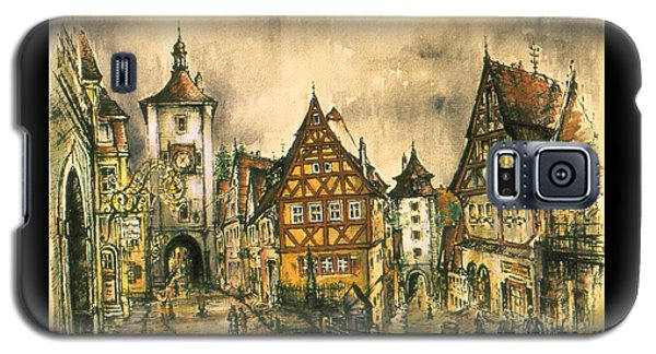 Rothenburg Bavaria Germany - Romantic Watercolor Galaxy S5 Case