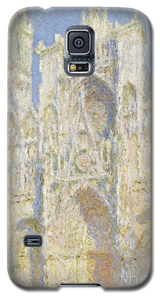 Impressionism Galaxy S5 Case - Rouen Cathedral West Facade by Claude Monet