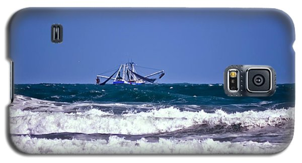Galaxy S5 Case featuring the photograph Rough Seas Shrimping by DigiArt Diaries by Vicky B Fuller