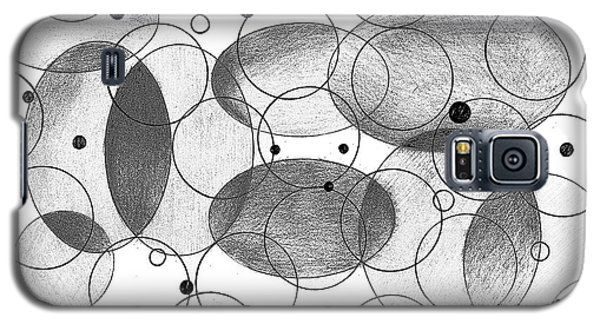 Galaxy S5 Case featuring the drawing Round by Mary Bedy