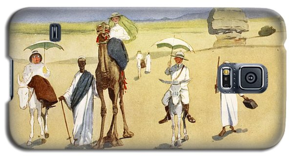 Round The Pyramids, From The Light Side Galaxy S5 Case by Lance Thackeray