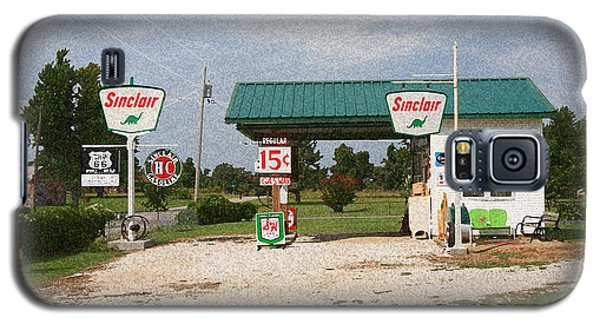 Route 66 Gas Station With Sponge Painting Effect Galaxy S5 Case