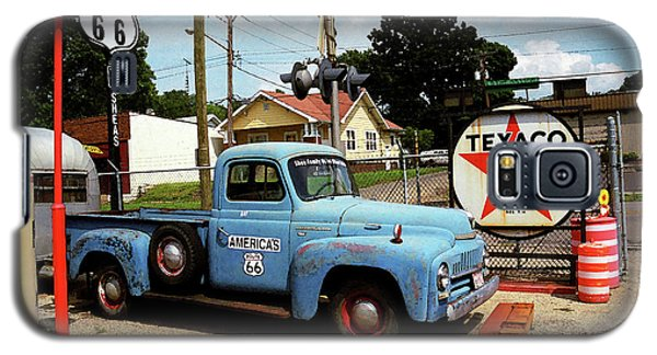Route 66 - Gas Station With Watercolor Effect Galaxy S5 Case by Frank Romeo