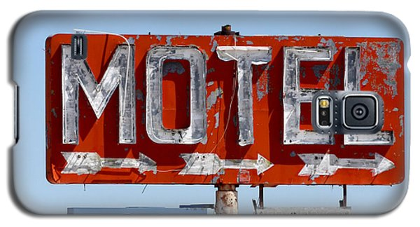 Route 66 Motel Sign Galaxy S5 Case by Art Block Collections