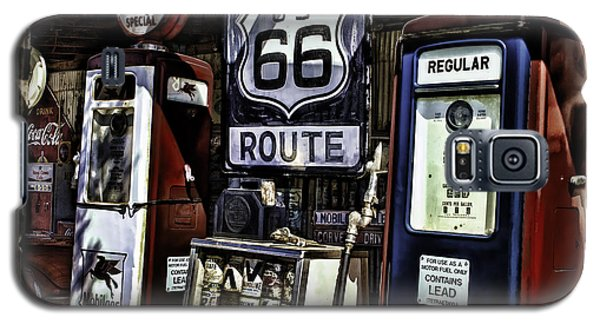 Galaxy S5 Case featuring the painting Route 66 by Muhie Kanawati