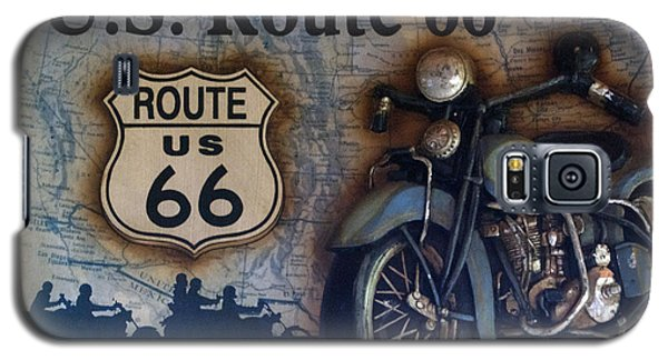 Route 66 Odell Il Gas Station Motorcycle Signage Galaxy S5 Case