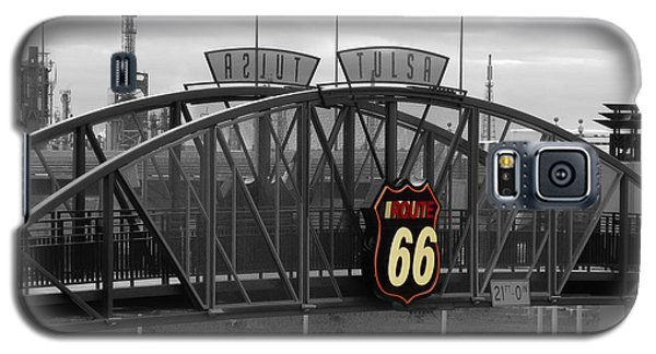 Route 66 Tulsa Sign Bw Splash Galaxy S5 Case