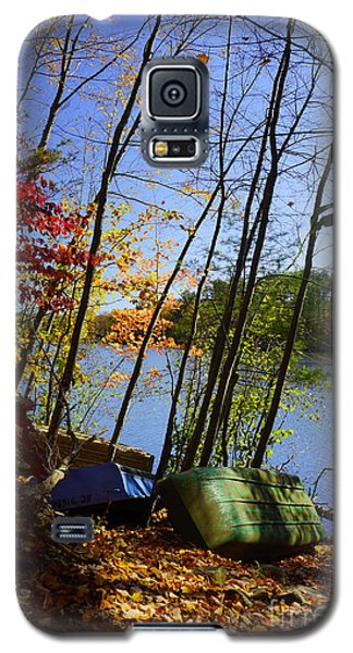 Row Boats Along Croton Reservoir - Ny Galaxy S5 Case