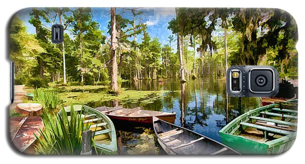 Row Boats In Cypress Tree Swamp II Galaxy S5 Case