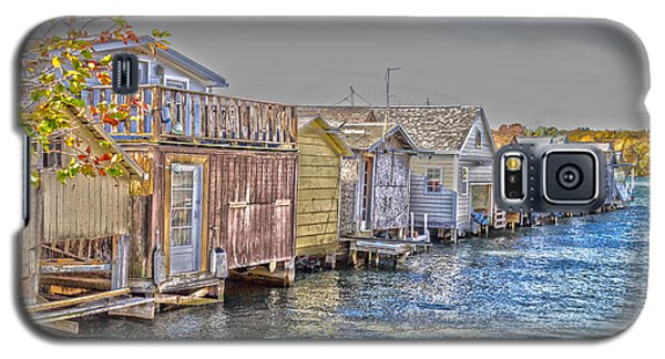 Row Of Boathouses Galaxy S5 Case
