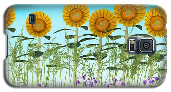 Row Of Sunflowers Galaxy S5 Case