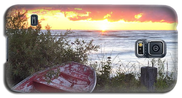 Rowboat At Sunrise Galaxy S5 Case