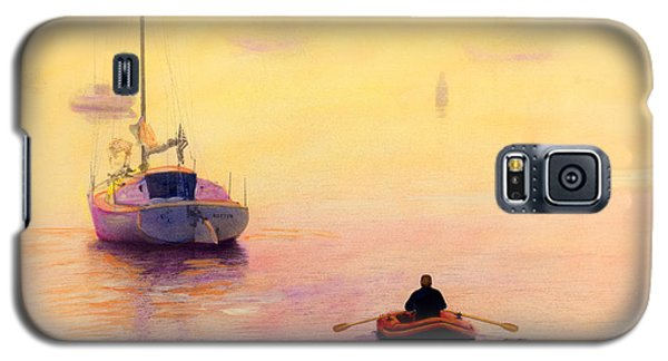 Rowing Out Galaxy S5 Case by Cindy McIntyre