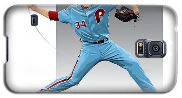 Galaxy S5 Case featuring the digital art Roy Halladay by Scott Weigner