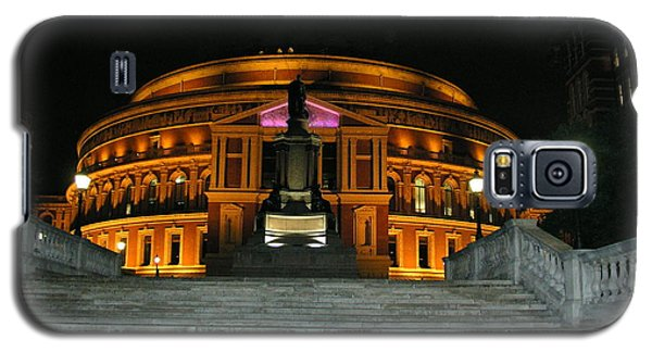 Galaxy S5 Case featuring the photograph Royal Albert Hall At Night by Bev Conover