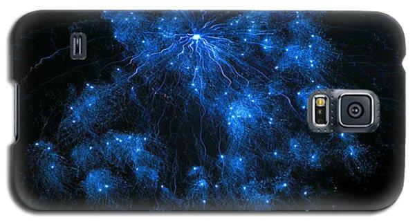 Royal Blue Fireworks Galaxy S5 Case by Joseph Baril