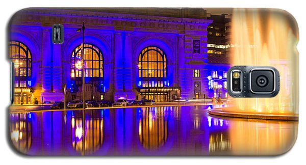 Royal Blue Reflections Union Station Galaxy S5 Case