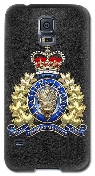 Royal Canadian Mounted Police - Rcmp Badge On Black Leather Galaxy S5 Case