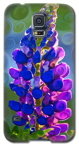 Royal Purple Lupine Flower Abstract Art Galaxy S5 Case