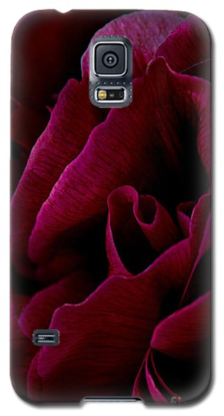 Royal Red Peony Galaxy S5 Case