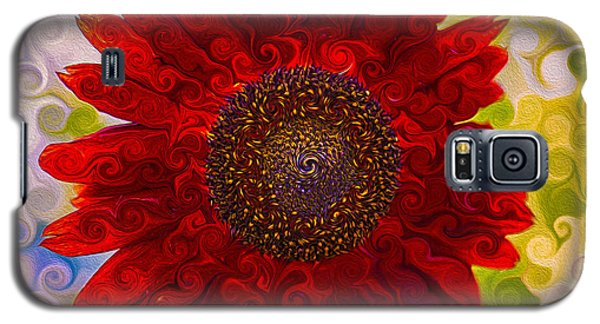 Royal Red Sunflower Galaxy S5 Case