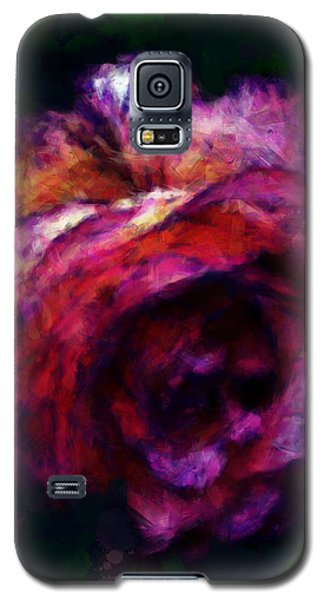 Royal Rose Painted Galaxy S5 Case