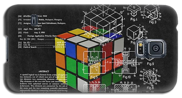 Rubik's Cube Patent 3 Galaxy S5 Case by Andrew Fare