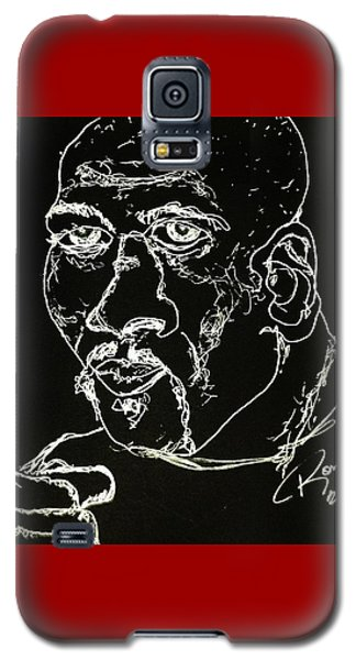 Galaxy S5 Case featuring the drawing Rubin Hurricane Carter by Rand Swift