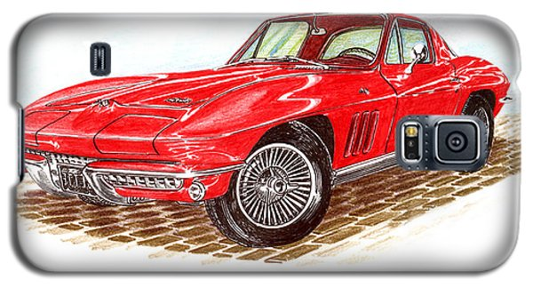 Ruby Red 1966 Corvette Stingray Fastback Galaxy S5 Case by Jack Pumphrey