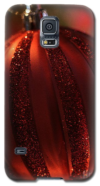 Galaxy S5 Case featuring the photograph Ruby Red Christmas by Linda Shafer