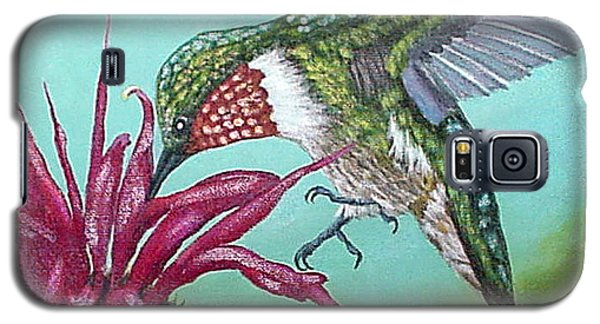 Galaxy S5 Case featuring the painting Ruby-throated Hummingbird by Fran Brooks