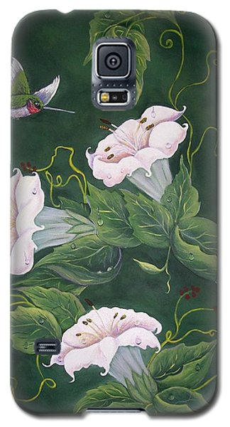 Hummingbird And Lilies Galaxy S5 Case