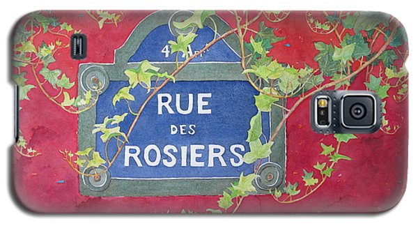 Rue Des Rosiers In Paris Galaxy S5 Case by Mary Ellen Mueller Legault