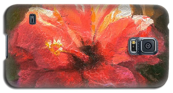 Ruffled Light Double Hibiscus Flower Galaxy S5 Case