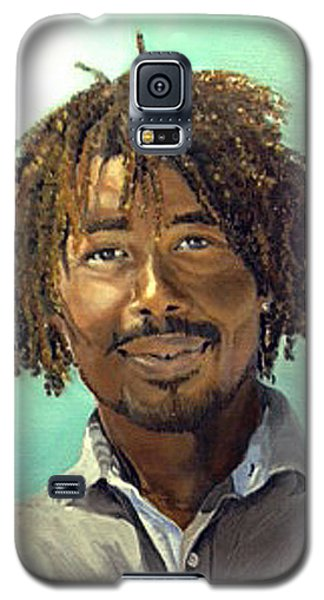 Galaxy S5 Case featuring the painting Rufus by Lori Ippolito