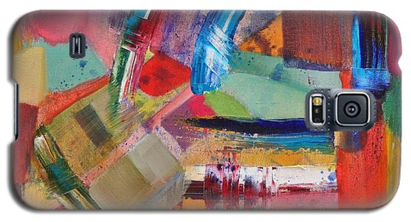Galaxy S5 Case featuring the painting Rugged Strokes by Jason Williamson