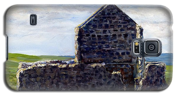 Galaxy S5 Case featuring the painting Ruins In Tasmania On The Sea Shore by Lenora  De Lude