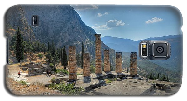 Ruins Of Apollos Temple And The Valley Of Phocis Galaxy S5 Case by Micah Goff