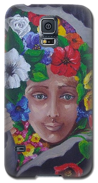 Galaxy S5 Case featuring the painting Run Out The Good In You by Nina Mitkova