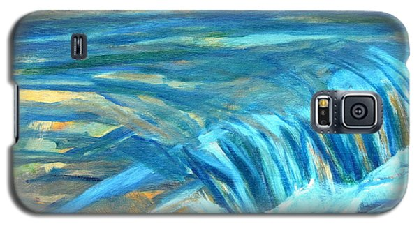 Galaxy S5 Case featuring the painting Run River Run Over Rocks In The Sun by Betty Pieper