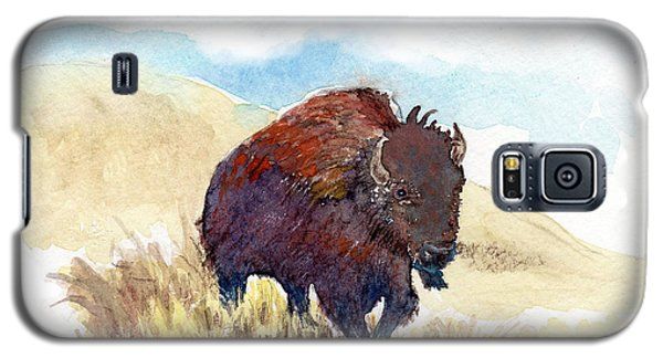 Galaxy S5 Case featuring the painting Running Buffalo by C Sitton
