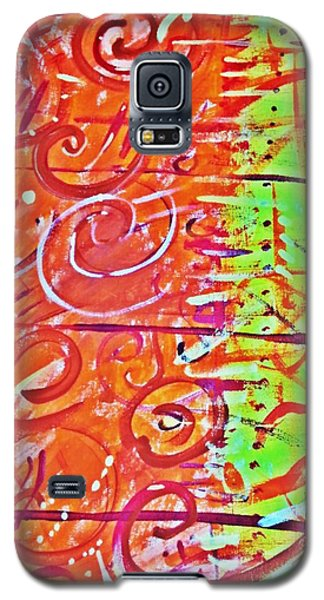 Running Circles 'round The Sun Galaxy S5 Case by Yshua The Painter