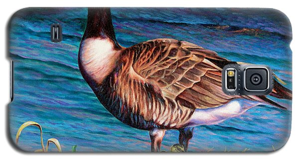 Galaxy S5 Case featuring the painting Running For Cover by Craig T Burgwardt