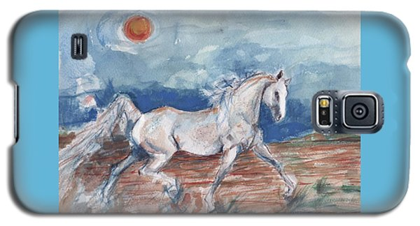 Running Horse Galaxy S5 Case by Mary Armstrong