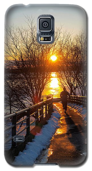Running In Sunset Galaxy S5 Case by Paul Ge